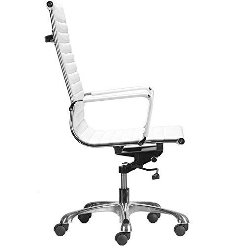Flexsteel Wrangler Sofa: CMO High Back Ribbed Upholstered PU Leather Swivel Task