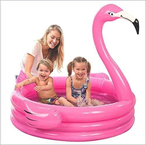 子供の膨脹可能なプール、膨脹可能な赤ちゃんのパドリングプールフラミンゴスワンプールの赤ちゃんの浴槽屋外の庭のための水幼児プールを再生します,ピンク