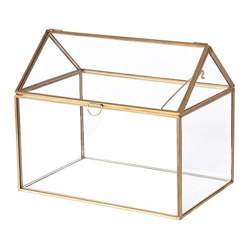 Mostbest Large Geometric Glass Box Organizer Terrarium Centerpiece Decor Card Holder Perfect for Wedding Receptions, Planter Holder ()