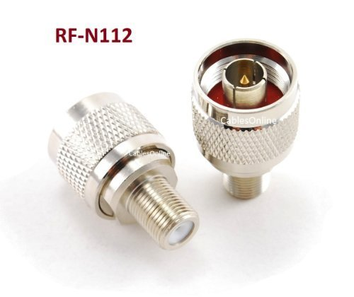 CablesOnline F-Type Female to N-Type Male Antenna RF Adapter (RF-N112)