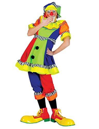 Funny Fashions Womens Spanky Stripes Clown Adults Theme Party Halloween Costume, M (10-12)