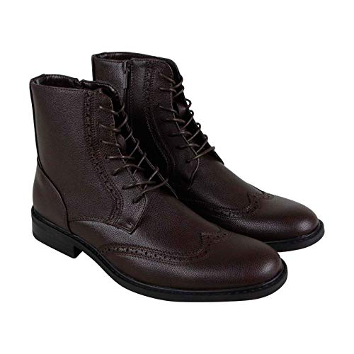 Unlisted by Kenneth Cole Men's Buzzer Oxford Boot, Brown, 10 M US