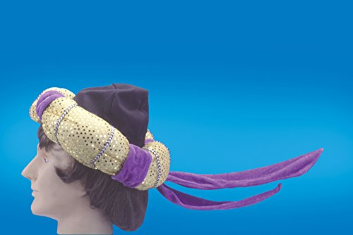 Loftus International Star Power Aladdin Arabian Prince Costume Hat, Purple, One (Aladdin Costume Carpet)