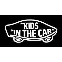 【全16色】人気!キッズ イン カー ステッカー!Kids in car Sticker/車用/シール/Vinyl/Decal/バイナル/デカール/ステッカー/KIC-1 (白) [並行輸入品]