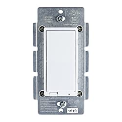 Ge Zigbee Wireless Smart Lighting Control Dimmer, In-wall, Led & Cfl Compatible, Energy Monitoring, Ha1.2, Includes White & Light Almond Paddles, Works With Amazon Alexa & Echo Plus, 45857ge
