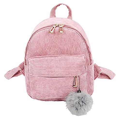 (Clearance Sale,Realdo Girl Corduroy School Bag Student Backpack Satchel Travel)