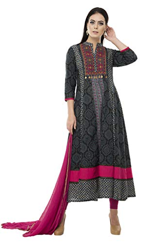 SABHYATA Womens Kurta Indian Kurtis for Women Rayon Casual Tunic Top Long Dress Mandarin Collar Medium Multi by SABHYATA