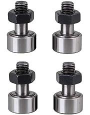"LDEXIN 4pcs CF6 6mm/0.23"" Dia Rod Male Thread Stud Type Track Cam Follower Curve Needle Roller Silver Tone"