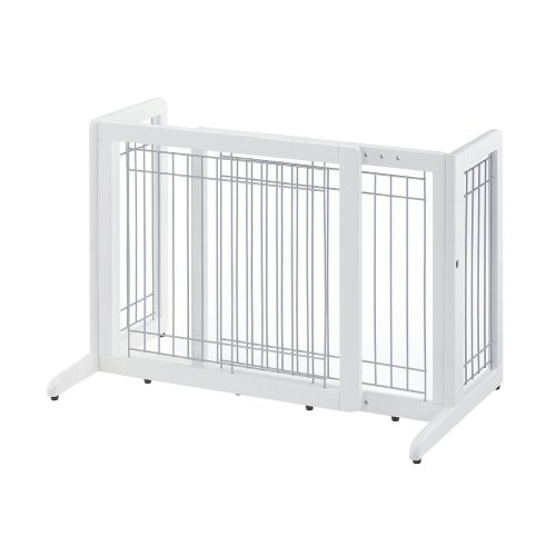 Richell Freestanding Pet Gate, Small, Origami White