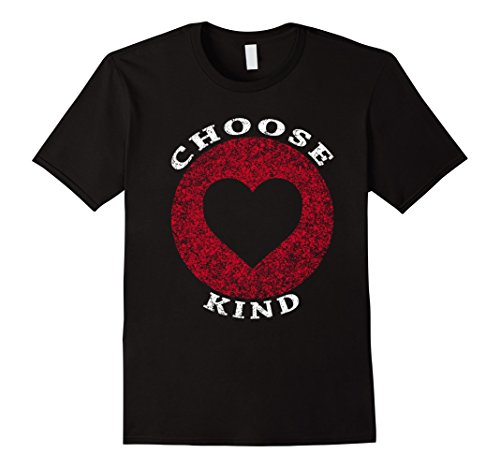 Mens Choose Kind Heart T-Shirt Medium Black