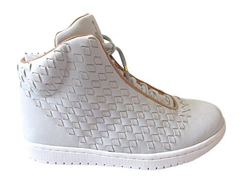 Nike Air Jordan Glanz Herren Hi Top Turnschuhe 689480Sneakers Schuhe pure platinum vanchetta tan white 003