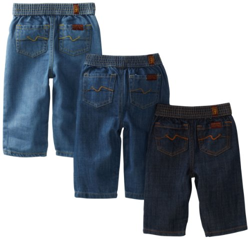7 For All Mankind Unisex-Baby Newborn Baby's 1st Year Jeans, 3 Pack