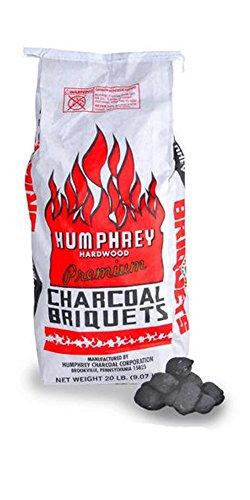 Humphrey Charcoal Hardwood Briquettes Bag, 20 lb.