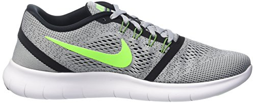 Nike Mens Free Rn Distance Running Shoe-pure Platino / Verde Elettrico / Antracite-8.5
