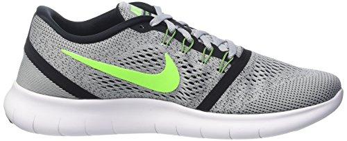 NIKE Men's Free RN Running Shoe (6.5 B(M) US, Pure Platinum/Electric Green/Anthracite)