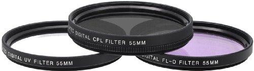 Xit XT55FLK55 3-Piece Camera Lens Filter Sets