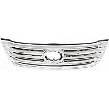 Grille For 2000-2002 Toyota Tundra Chrome Shell w// Black Insert Plastic