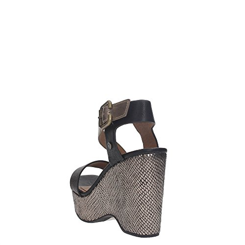 Wrangler WM171722 Zapatos De Cuña Mujer Black/Bronze