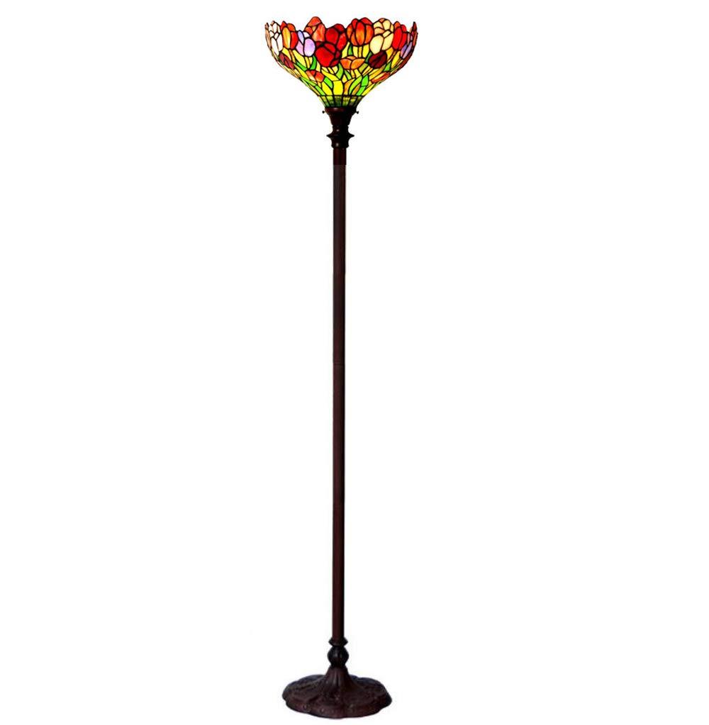 WD-Solar Flashlight European Retro Antique Lamp, Retro Luxury Floor Lamp, Living Room Bedroom Lamp Tulips