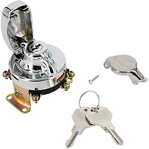 6 Terminals Ignition Switch for 73-Up Harley-Davidson Big Twins FL 71501-73 (Chrome)