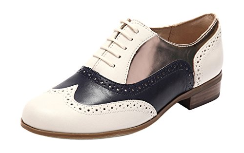 Off Clarks para Oak Combi Derby Blanco Hamble mujer Zapatos White xR1qwvnH