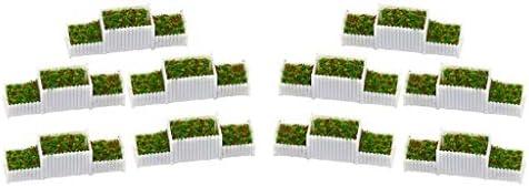 P Prettyia 1/100スケール Eフラワーベッド ドールハウスの装飾 植物 ミニ風景 妖精 ガーデン装飾 10個入入り