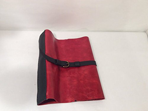 1-1/2'' Ring Binder Case,Red Leather Ring Binder Case,Documents Folder Handmade Leather Diary, Journal Covers, Notebook