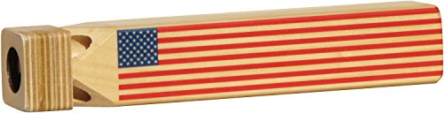 (Train Whistle with Flag Print - Made in USA )