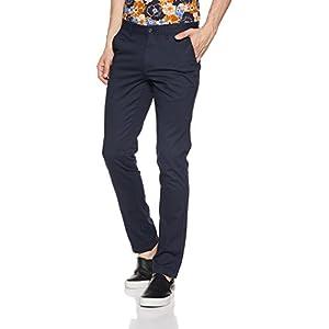 Diverse Men's Slim Fit Casual Trousers