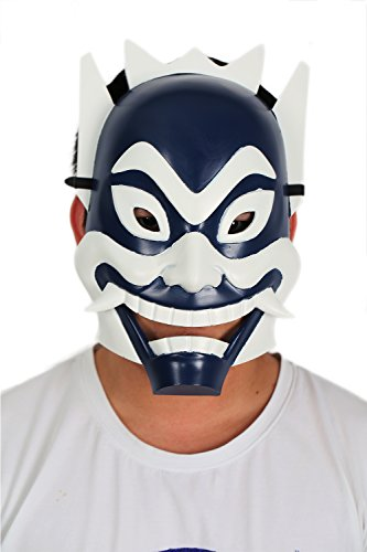 xcoser Blue Spirit Mask Cosplay Costume Props for Halloween Masquerade