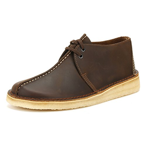 CLARKS Originals Mens Desert Trek Beeswax Leather Shoes 9 US