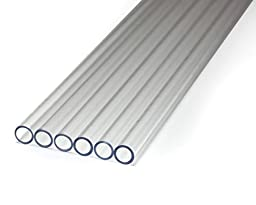 PrimoChilll 1/2in. Rigid PETG Tube 30in. - 12 Pack - Clear