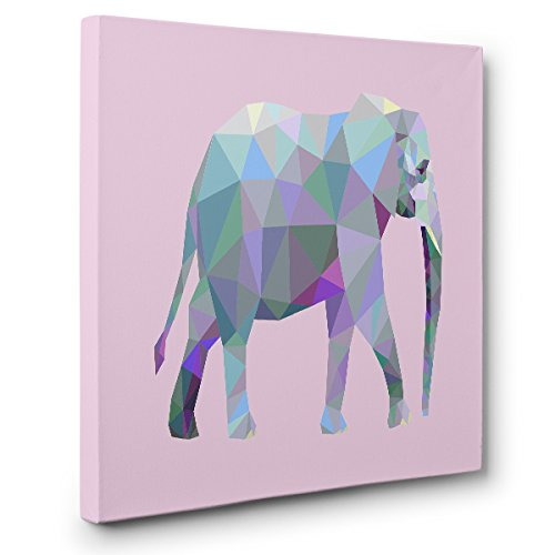 Polygon Elephant CANVAS Wall Art Home Décor by Paper Blast