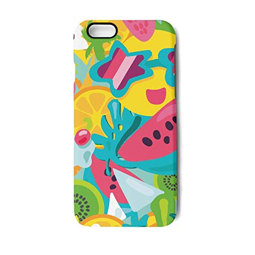 YUEch iPhone 7 Plus Case, iPhone 8 Plus Case Tropical Summer Beach Fruits Party Time TPU Shock-Absorption & Skid-Proof Anti-Scratch Phone Case for Apple iPhone 7 Plus/iPhone 8 Plus -