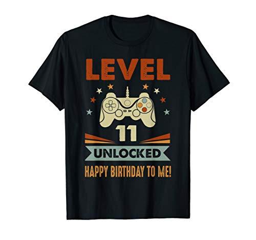 - 11th Birthday Shirt Level 11 Unlocked Happy Birthday To Me