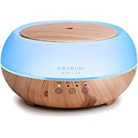 ASAKUKI Premium Touch Sensitive, Essential Oil Diffuser, 300ML-5 In 1 Ultrasonic Aromatherapy Fragrant Oil Vaporizer , Humidifies The Air, Auto-Off Safety Switch, 7 LED Light Colors