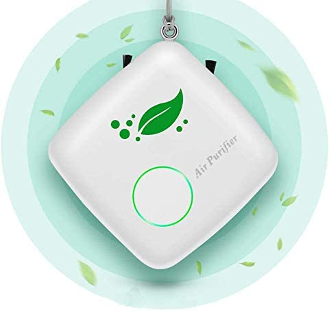 Portable Air Purifier Personal for Home, Mini Wearable Air Purifier Necklace Smoke Eliminator for Car, USB Charging Bedroom Travel Air Cleaner for Smoke, Dust, Pollen, Pets Smell
