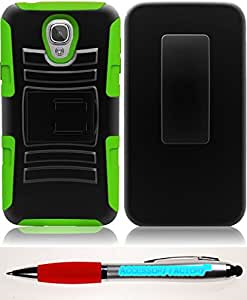 Accessory Factory(TM) Bundle (the item, 2in1 Stylus Point Pen) For Samsung ATIV SE W750V Huron Side Stand Cover Case With Holster - Black+Neon Green cas protecteur de couverture