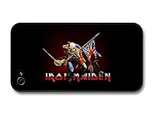 AMAF ? Accessories Iron Maiden Union Jack Flag Skeleton Logo Case For Iphone 4/4S Cover