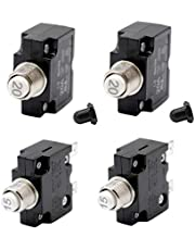 D DOLITY 4x12V-24V Push Button Resettable Circuit Breaker W/Quick Terminals 15A & 20A