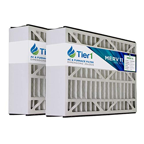 - Tier1 20x25x5 Merv 11 Replacement for Skuttle AC Furnace Air Filter 2 Pack