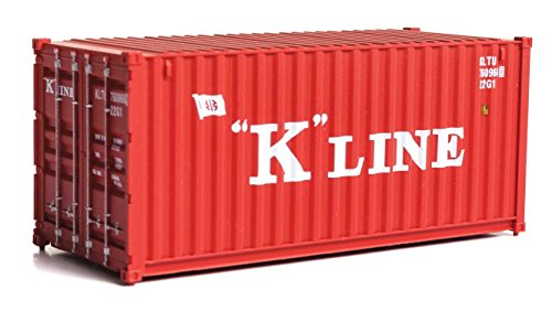 20' CORRUGATED CONTAINER - ASSEMBLED -- K-LINE (RED, WHITE)