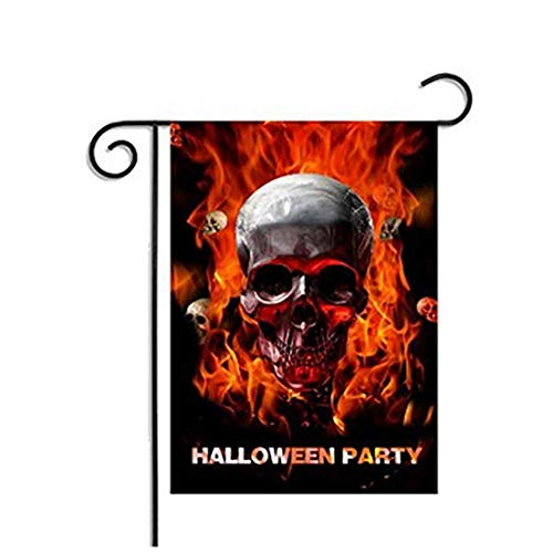Zamango Garden Flag Decorative Skull Halloween Printing Deco