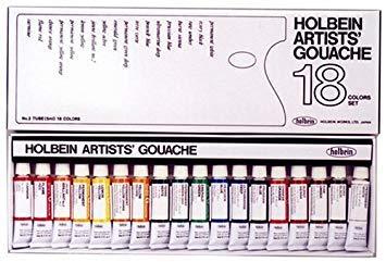 Holbein Artist Gouache Set : 18 x 5ml tubes from Holbein