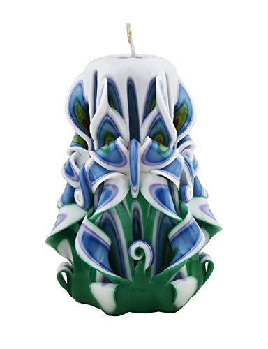 Scented Carved Candles Red Green Yellow Blue White - Custom order available with any scent color shape - Handmade in USA