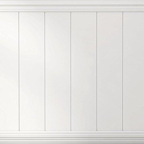 (Boulanger 20822-KIT Primed MDF V-Jointed Wainscot Kit, Including Chair Rails & Base Boards,)