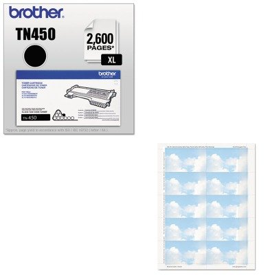 KITBRTTN450GEO47372S - Value Kit - Geographics Clouds Design Business Suite Cards (GEO47372S) and Brother TN450 TN-450 High-Yield Toner (BRTTN450)