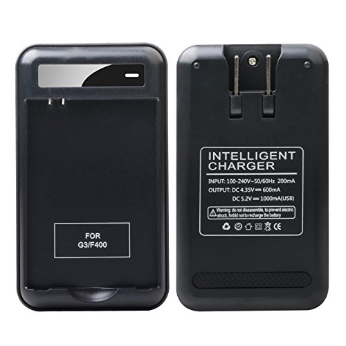 LG G3 Specialized Battery Charger: Lrker Specialized Intelligent Portable USB Travel Wall Charger for LG G3 Phone Spare battery - Black - Battery is Not Included (1Charger) ()