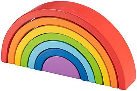 Rainbow Arches Stack and Play Baby Toys /& Gifts for Ages 2 to 3 Fat Brain Toys FBT Rainbow Stacker
