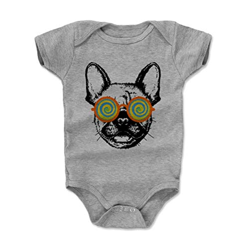 - Bald Eagle Shirts French Bulldog Baby Clothes, Onesie, Creeper, Bodysuit - Frenchie Shades (Heather Gray, 3-6 Months)
